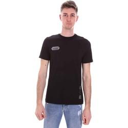 tekstylia Męskie T-shirty z krótkim rękawem Disclaimer 21EDS50517 Czarny