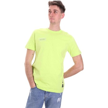 tekstylia Męskie T-shirty z krótkim rękawem Disclaimer 21EDS50517 Zielony