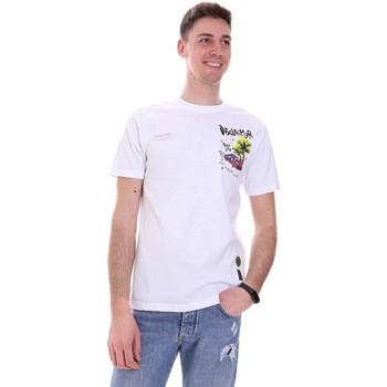 tekstylia Męskie T-shirty z krótkim rękawem Disclaimer 21EDS50522 Biały
