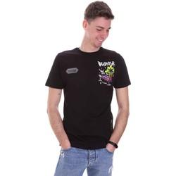 tekstylia Męskie T-shirty z krótkim rękawem Disclaimer 21EDS50522 Czarny