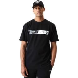 tekstylia Męskie T-shirty z krótkim rękawem New-Era 12553333 Czarny