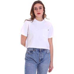 tekstylia Damskie T-shirty z krótkim rękawem Dickies DK0A4XDEWHX1 Biały