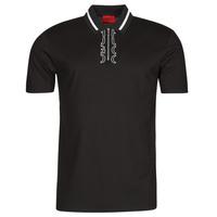tekstylia Męskie Koszulki polo z krótkim rękawem HUGO DOLMAR Czarny / Biały