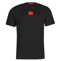 tekstylia Męskie T-shirty z krótkim rękawem HUGO DIRAGOLINO Czarny / Czerwony