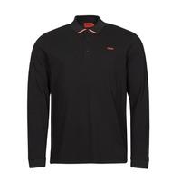 tekstylia Męskie Koszulki polo z długim rękawem HUGO DONOL Czarny