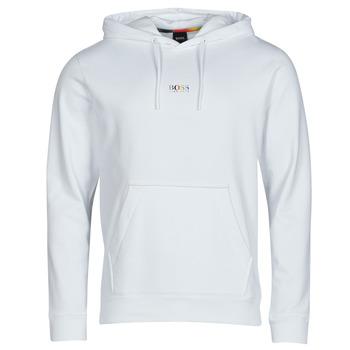tekstylia Męskie Bluzy BOSS WELOVE Biały