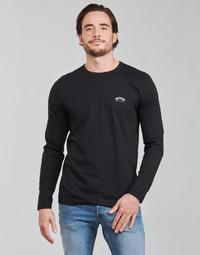 tekstylia Męskie T-shirty z długim rękawem BOSS TOGN CURVED Czarny