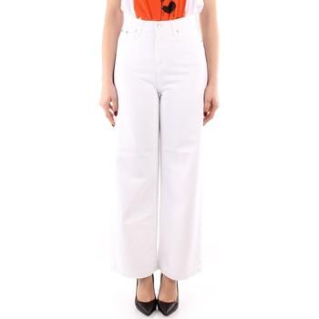 tekstylia Damskie Spodnie z lejącej tkaniny / Alladynki Roy Rogers P21RND091P3211755 Biały