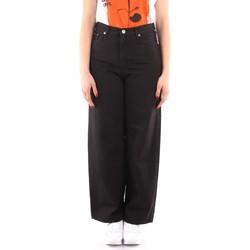 tekstylia Damskie Spodnie z lejącej tkaniny / Alladynki Roy Rogers P21RND091P3211755 Czarny