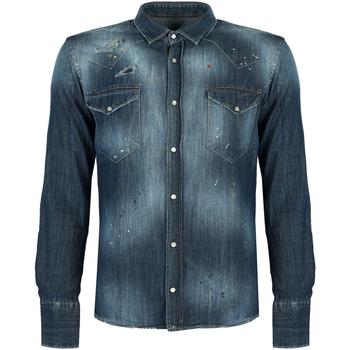 tekstylia Męskie Koszule z długim rękawem Takeshy Kurosawa  Niebieski