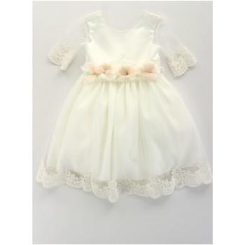 tekstylia Dziewczynka Sukienki krótkie Bella Brilli BB402157 Beżowy