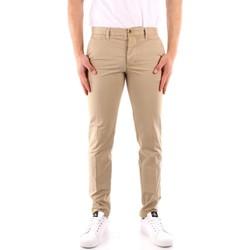 tekstylia Męskie Spodnie z pięcioma kieszeniami Blauer 21SBLUP01244 Beżowy