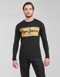 tekstylia Męskie T-shirty z długim rękawem Pepe jeans CHARING LS Czarny