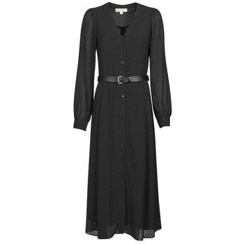 tekstylia Damskie Sukienki długie MICHAEL Michael Kors CRINKLE DOTS KATE DRS Czarny