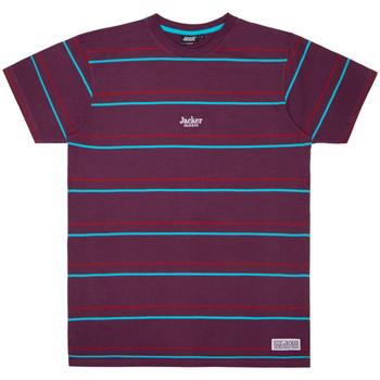 tekstylia Męskie T-shirty z krótkim rękawem Jacker Rtk stripes Fioletowy