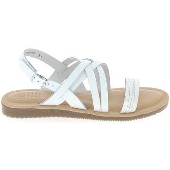 Buty Damskie Sandały TBS Blaudia Croco Blanc Biały