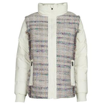 tekstylia Damskie Kurtki pikowane Desigual STORNI Biały