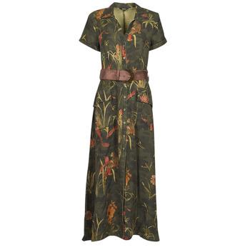 tekstylia Damskie Sukienki długie Desigual AMSTERDAM Kaki
