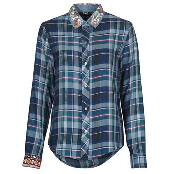 tekstylia Damskie Koszule Desigual SUSAN SONTAG Niebieski