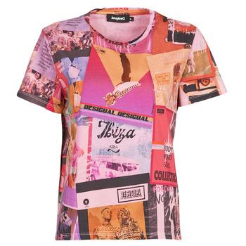 tekstylia Damskie T-shirty z krótkim rękawem Desigual PROCLAIM Wielokolorowy