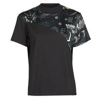 tekstylia Damskie T-shirty z krótkim rękawem Desigual GRACE HOPPER Czarny