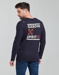 tekstylia Męskie T-shirty z długim rękawem Oxbow N2TORJOK Marine