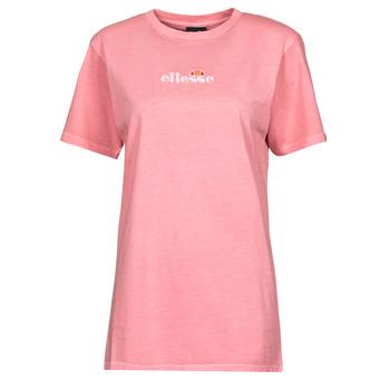tekstylia Damskie T-shirty z krótkim rękawem Ellesse ANNATTO Różowy