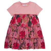 tekstylia Dziewczynka Sukienki krótkie Desigual ZAFIRO Różowy