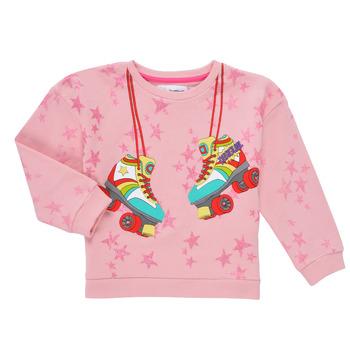 tekstylia Dziewczynka Bluzy Desigual MARGARA Różowy