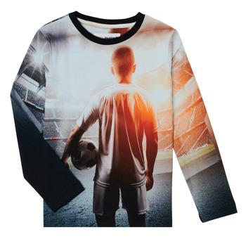 tekstylia Chłopiec T-shirty z długim rękawem Desigual FOOTBALL Szary