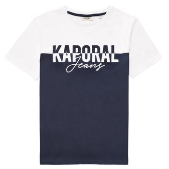 tekstylia Chłopiec T-shirty z krótkim rękawem Kaporal JILEY Biały
