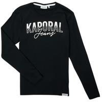 tekstylia Chłopiec T-shirty z długim rękawem Kaporal JODLE Czarny