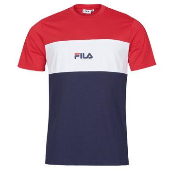 tekstylia Męskie T-shirty z krótkim rękawem Fila ANOKI Czerwony / Marine / Biały