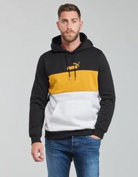 tekstylia Męskie Bluzy Puma ESS+ COLORBLOCK HOODIE FL Czarny / Żółty