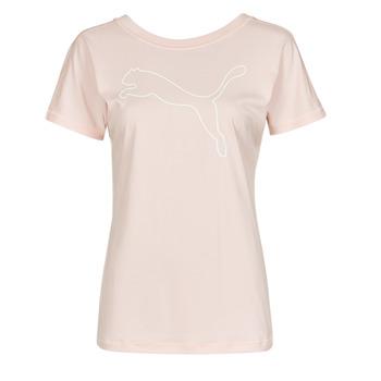 tekstylia Damskie T-shirty z krótkim rękawem Puma TRAIN FAVORITE JERSEY CAT TEE Różowy