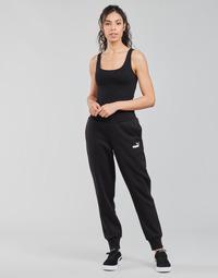 tekstylia Damskie Spodnie dresowe Puma ESS SWEAT PANT FL CL Czarny