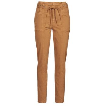 tekstylia Damskie Spodnie z pięcioma kieszeniami One Step FT22111 Beżowy