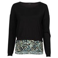 tekstylia Damskie Swetry One Step FT18121 Czarny