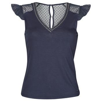 tekstylia Damskie T-shirty z krótkim rękawem Morgan DUCHES Marine