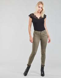 tekstylia Damskie Spodnie z pięcioma kieszeniami Morgan PETRA Thyme