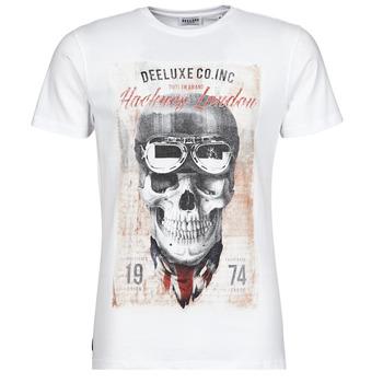 tekstylia Męskie T-shirty z krótkim rękawem Deeluxe CLEM Biały