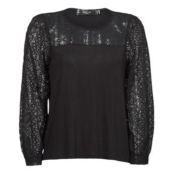 tekstylia Damskie T-shirty z długim rękawem Deeluxe FRIDA Czarny
