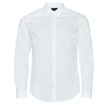 tekstylia Męskie Koszule z długim rękawem Emporio Armani 8N1C09 Biały