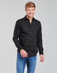 tekstylia Męskie Koszule z długim rękawem Emporio Armani 8N1C09 Czarny