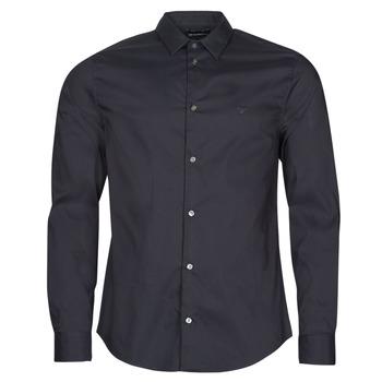 tekstylia Męskie Koszule z długim rękawem Emporio Armani 8N1C09 Marine