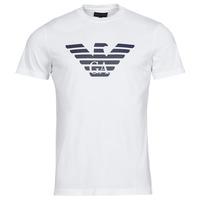 tekstylia Męskie T-shirty z krótkim rękawem Emporio Armani 8N1TN5 Biały
