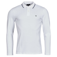 tekstylia Męskie Koszulki polo z długim rękawem Emporio Armani 8N1FB5 Biały