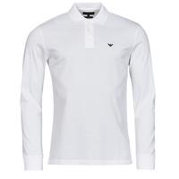 tekstylia Męskie Koszulki polo z długim rękawem Emporio Armani 8N1FQ0 Biały