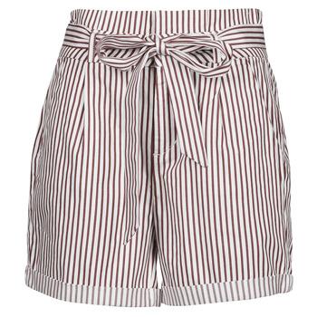 tekstylia Damskie Szorty i Bermudy Vero Moda VMEVA Biały / Brązowy