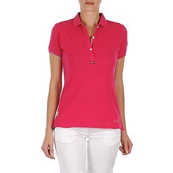 tekstylia Damskie Koszulki polo z krótkim rękawem Napapijri ELINDA Różowy